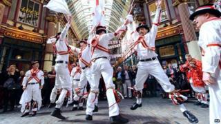Morris dancers in Leadenhall market