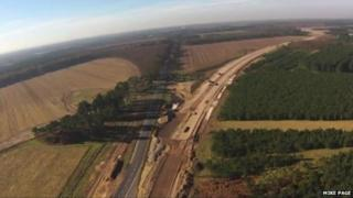 The start of the Elveden bypass