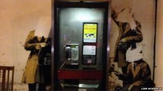 Vandlas attack Cheltenham Banksy