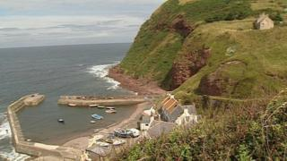 Mr Farquhar was riding his mobility scooter on the harbour at Pennan
