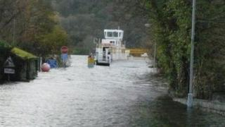 Windermere ferry at Ferry Nab