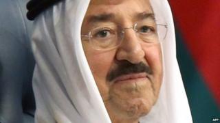 The emir of Kuwait Sheikh Sabah al-Ahmad al-Jaber al-Sabah
