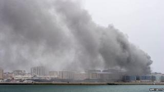 Fire in Gibraltar on 20 April 2014