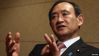 File photo: Japan's top government spokesman Yoshihide Suga