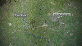 The fish kill happened at the Oona river near Dungannon