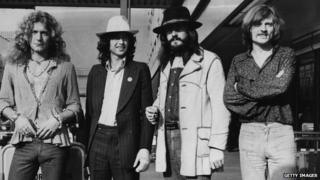 Left to right: Robert Plant, Jimmy Page, John Bonham and John Paul Jones