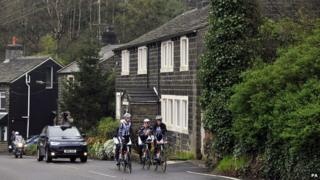 Tour de France riders in Yorkshire