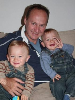 Gary Clarence and his two sons,