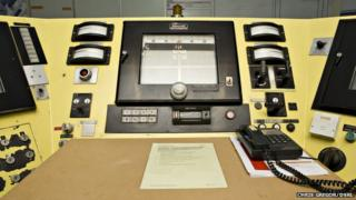 Control panels at DFR control room
