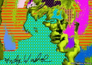Andy Warhol Amiga art