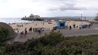 Cyclists on Bournemouth Pier Approach