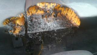 Burnt car seat