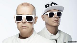 Pet Shop Boys duo Neil Tennant (l) and Chris Lowe