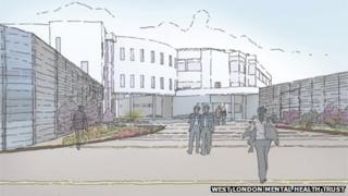Artists impression of the new hospital