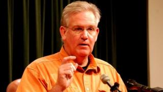 Missouri Governor Jay Nixon speaks at a press conference in 2011.