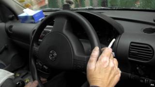Smoking in a car