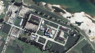 平壌の北にある寧辺の核施設。