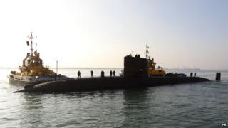 Royal Navy submarine HMS Tireless