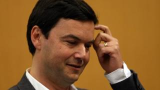 French economist Thomas Piketty appears at a lecture in Berkeley, California, on 23 April, 2014.