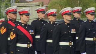 Reservists during the rededication parade