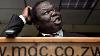 Morgan Tsvangirai at a press conference in Harare 25/03/2014