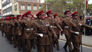 Royal and Mercian Lancastrian Yeomanry march