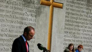 Micheal Martin at Arbour Hill commemoration