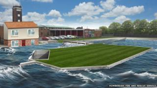 Artist's impression of the flood centre