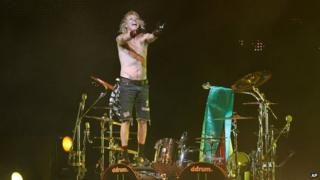 James Kottak on stage