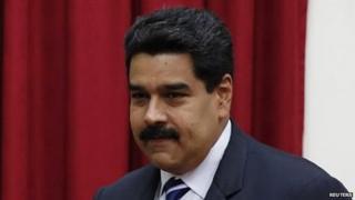 President Nicolas Maduro on 21 April 2014