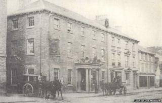 Trewythen Arms, Llanidloes, circa 1900