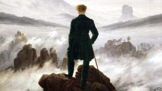 "Detail from Caspar David Friedrich's ""Wanderer above a sea of fog"""