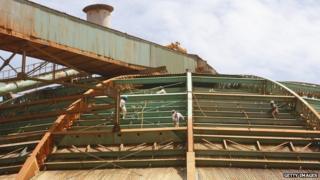 Jamaica Bauxite Partners plant at Port Rhodes in St Ann, Jamaica