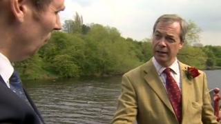 Richard Moss and Nigel Farage