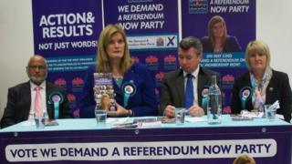 We Demand a Referendum Now Party campaign launch