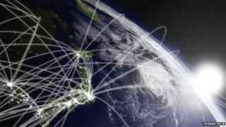 Planet earth with network