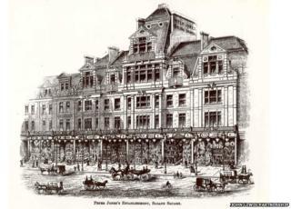 The Peter Jones store, refurbished King's Road frontage in 1889