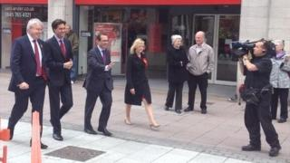 Ed Miliband campaigning in Cardiff