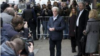 Max Clifford outside court
