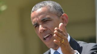 US President Barack Obama appeared in Washington DC on 2 May 2014