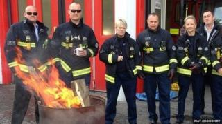 Firefighters from Deptford and Old Kent Road on Sunday