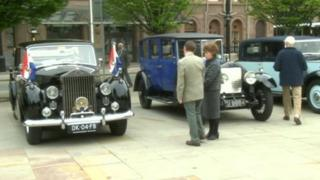 The late Queen Juliana of the Netherlands' Rolls Royce was on display