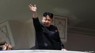 North Korean leader Kim Jong-un waves in a 15 April, 2012 photo.