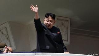 North Korean leader Kim Jong-un waves in a 15 April, 2012 photo.