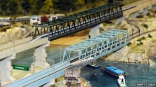 Railway over a river