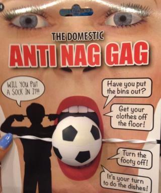 Anti nag gag novelty item