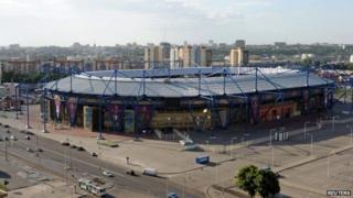 File photo of the Kharkiv stadium (21 May 2012)