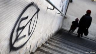 Anti-EU graffiti