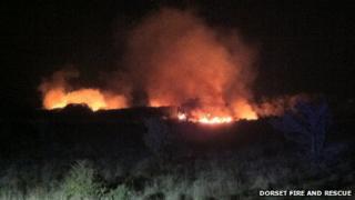 Lulworth heath fire