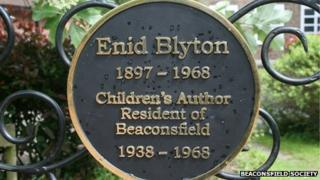 Enid Blyton commemorative plaque
